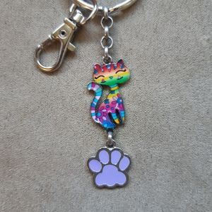 🦋2/$20🦋 Cat Lover's keychain